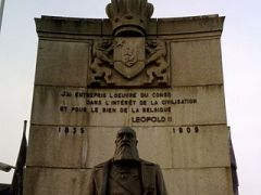 "Monument in Arlon. It says ""I have undertaken the work in Congo in the interest of civilisation and for the good of Belgium."" CC 2.0 http://en.wikipedia.org/wiki/File:Monument_%C3%A0_L%C3%A9opold_II_.jpg"